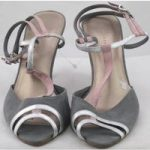 M&S Collection, size 7.5 grey, pink & silver sandals
