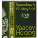 A People that Dwells Alone – the speeches and writings of Yaacov Herzog