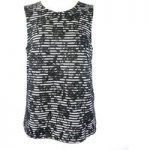 Warehouse – Size: 12 – Black – Sleeveless Lace Top