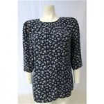 Next Size 12 Blue with Floral Pattern Top
