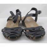 NWOT Footglove, size 6 black leather strappy shoes