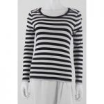 Whistles Size 10 Black & White Long Sleeved Top