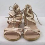 NWOT M&S Collection, size 3 gold sandals