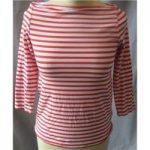 COS size XS red/white slash neck T shirt