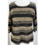 M&S Marks & Spencer size 12 Black & Brown Horizontally Striped Jumper