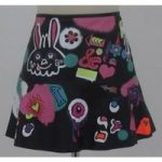 ASOS Size 6 black with graffiti print mini skirt