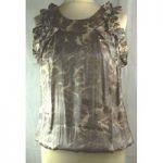 River Island-top/blouse-size 10-animal print River Island – Size: 10 – Multi-coloured