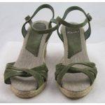Kew, size 6.5/40 green wedge heeled sandals