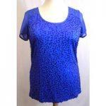 Per Una – Size: 16 – Blue – Short sleeved shirt Per Una – Size: 16 – Blue – Short sleeved shirt