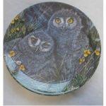 Vintage Wedgwood Bone China Baby Owls Dick Twinney Snowy Owl Chicks Plate