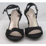 NWOT M&S Collection, size 6 black faux suede high heeled sandals