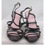 NWOT M&S & Alexa Chung, size 7 black patent effect strappy block heeled sandals