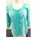 Per Una – Size: 12 – Green – Long sleeved top