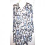 Qed London – Blue – Knee length dress