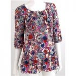 Liberty of London Size S Multi Coloured Bold Psychedelic Print Tunic Long Top