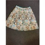 Hobbs, size 18 cream, brown & green mix Aztec patterned skirt