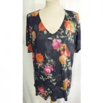 Per Una blue floral size 16 BNWT M&S Marks & Spencer – Size: 16 – Blue – Cap sleeved T-shirt