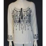 BNWT Next Embroidered Cream Top Size 8