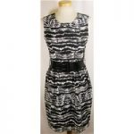 Red Herring size 8 black and white dress