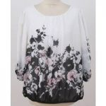 F&F, size 18, white floral print top