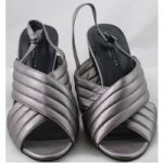 NWOT M&S Collection, size 7.5 pewter block heeled sandals